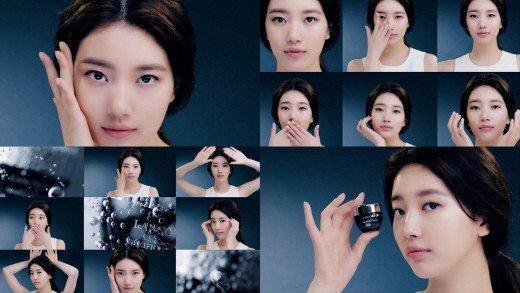 Suzy yeni kozmetik reklamında özgüvenle makyajsız yüzünü gösterdi