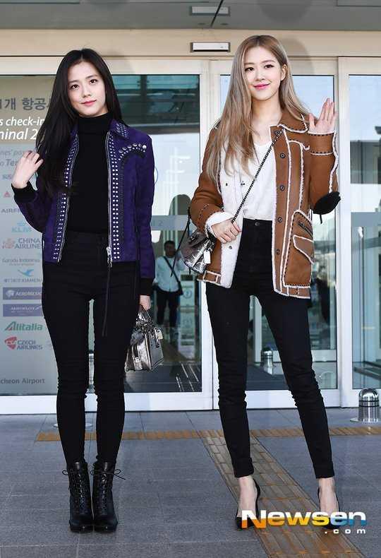 Jisoo ve Rose havaalanında manken gibi görünüyorlar