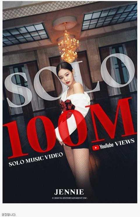 [PANN] Jennie'nin 'Solo' klibi 100 milyon izlenmeye ulaştı