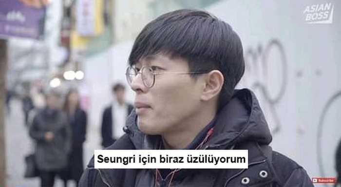 """[INSTIZ] Bazı Koreli erkeklerin """"Seungri'ye üzülüyorum"""" dediği röportaj tepki çekti"""