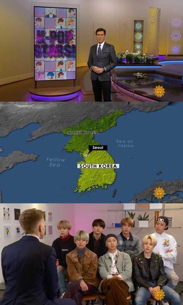 CBS 'Sunday Morning' BTS röportajında Güney Kore haritası gösterdi