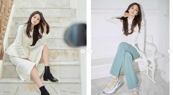 Song Hye Gyo yeni fotoğraf çekimi için kamera karşısındaydı