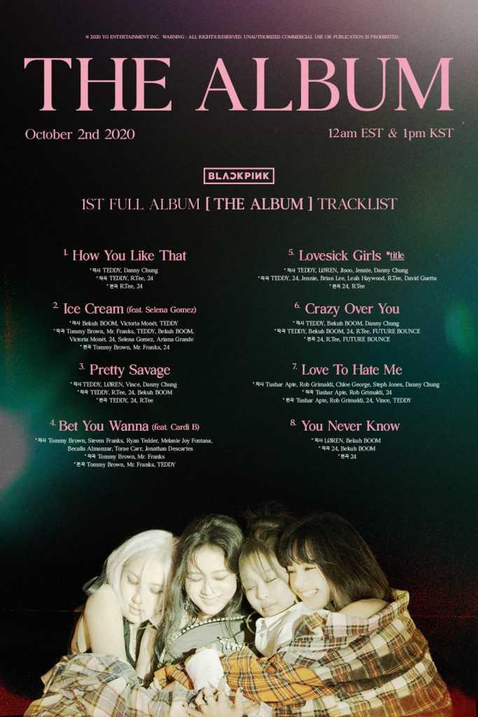 [THEQOO] Black Pink'in ful albümü 'The Album'de 8 şarkı var