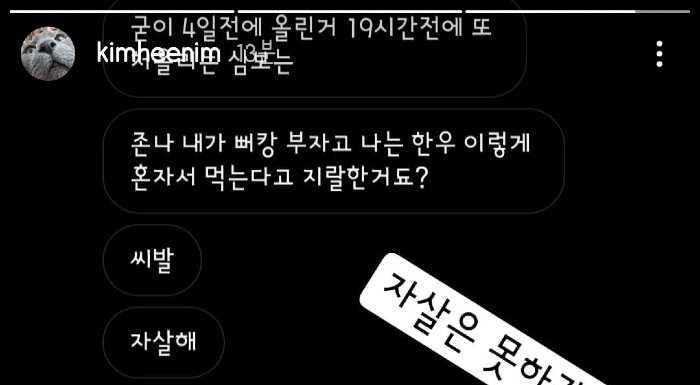 [THEQOO] Kim Heechul Insta hikayelerinde bir antiye cevap verdi