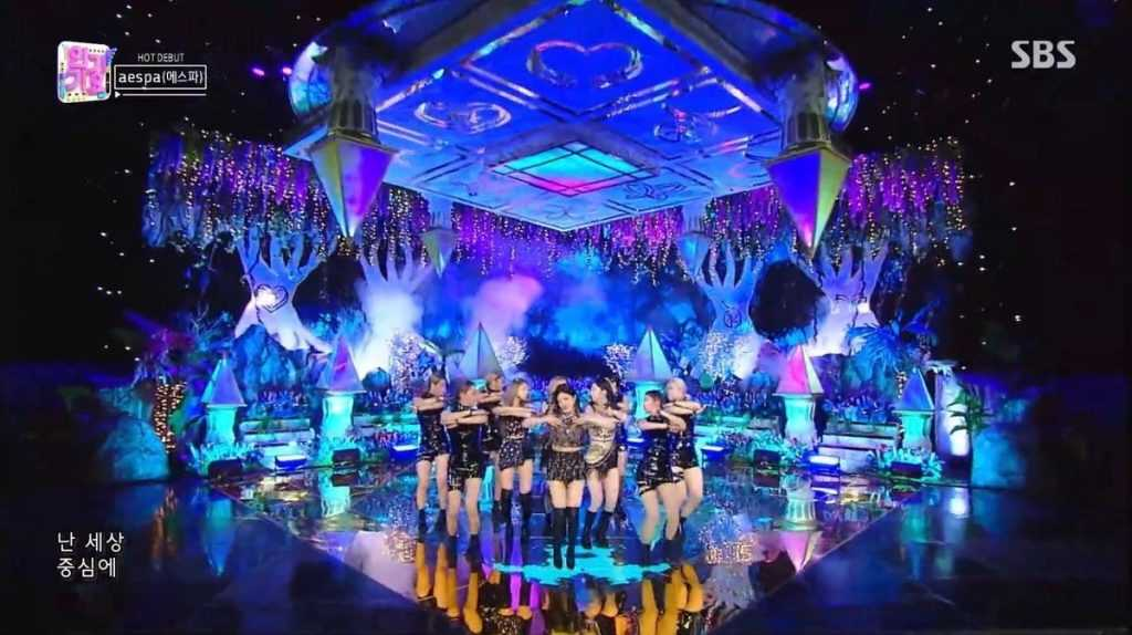 sm seems to have spent a lot of money on aespas stage on inkigayo 3