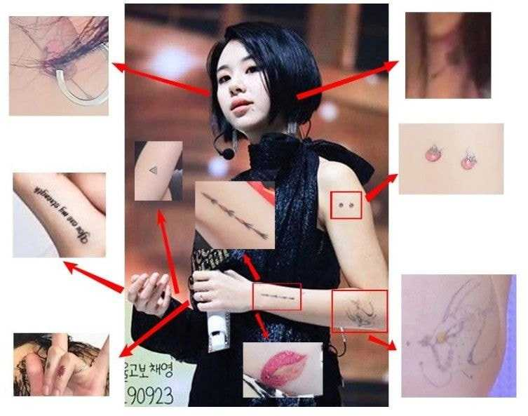 twice chaeyoungs tattoos 2 1