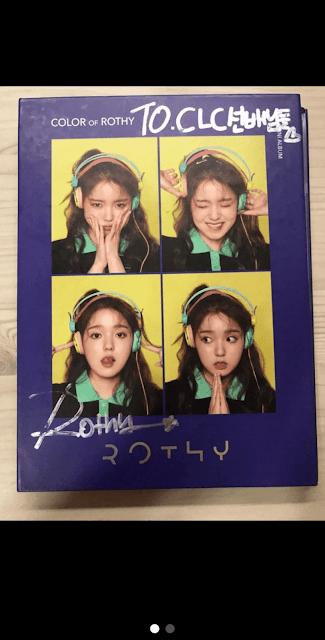 [THEQOO] Başka grupların CLC'ye verdiği imzalı albümler internette satışa çıkarılmış