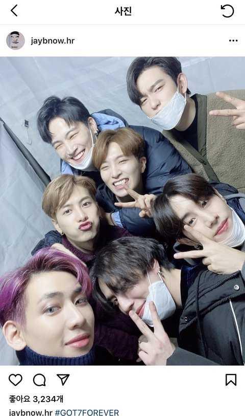 [PANN] GOT7 'GOT7 Forever' diyerek bir selfie paylaştı
