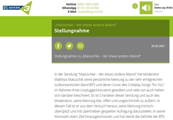 Alman radyo sunucusu BTS'e karşı ırkçı söylemde bulundu