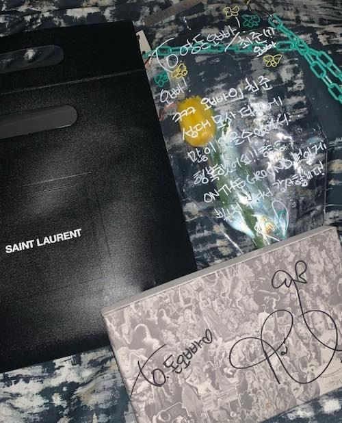 rose gifts her dance team saint laurent wallets 1