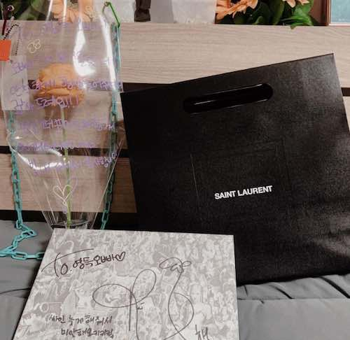 rose gifts her dance team saint laurent wallets 5