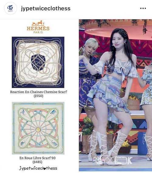twices new promotional outfits seem to be inspired by luxurious scarves 7