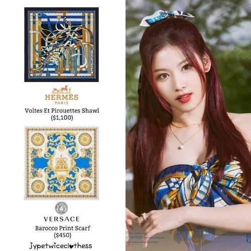 twices new promotional outfits seem to be inspired by luxurious scarves 9