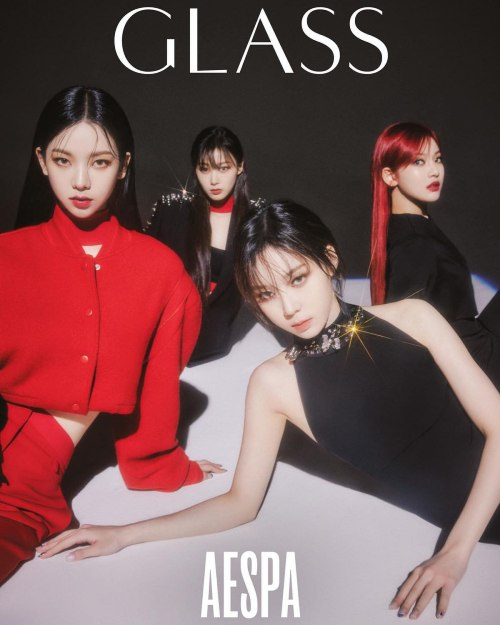 aespa on the cover of glass magazine 1