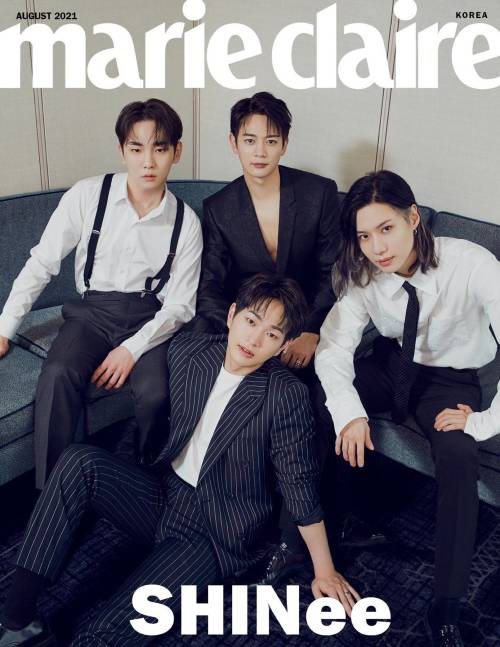 shinee on the cover of marie claire august issue 1 1