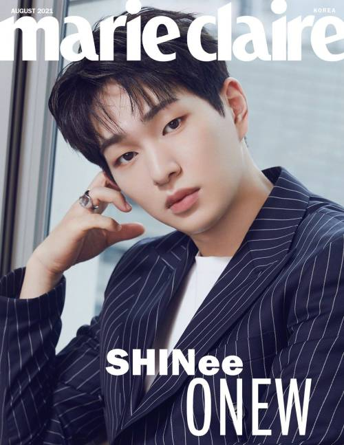 shinee on the cover of marie claire august issue 2