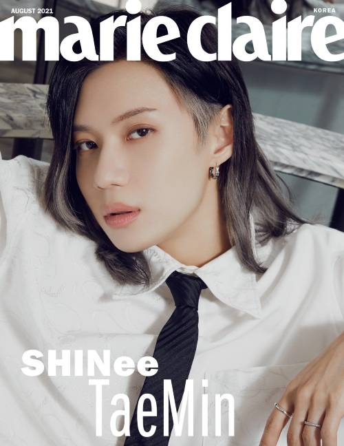 shinee on the cover of marie claire august issue 5