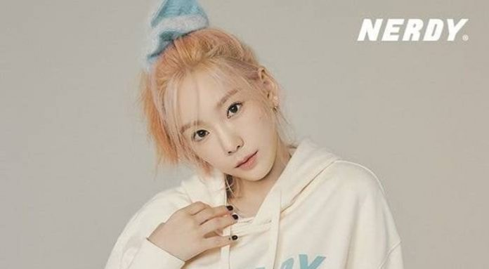 taeyeon was chosen as the model for the street brand nerdy 1